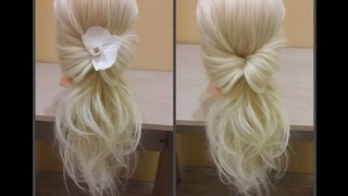 Прическа за 2 минуты. Красиво и быстро))  Hairstyle for 2 minutes. Beautifully and quickly))