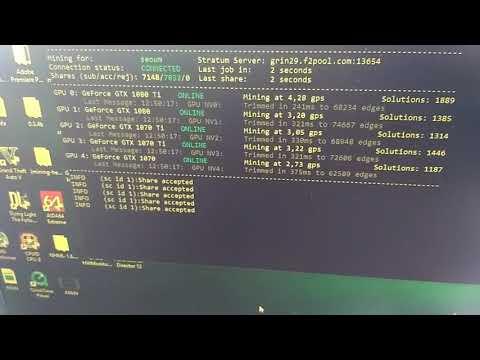 Майним GRIN. Тест хэшрэйта видеокарт GTX 1080 Ti, GTX 1070