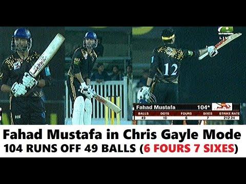 Fahad Mustafa Brutal Batting Vs Moin Khan Academy XI (104 Runs - 6x4 7x6) 7th Corporate T20 Cup 2019