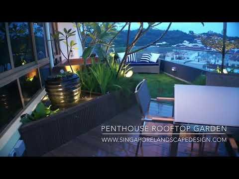 Penthouse garden by Singapore landscape design