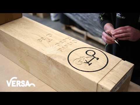 Timber Bollard Routing by Versa Street Furniture