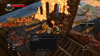 The Witcher 3: Secret Jump! Access treasures behind locked door.
