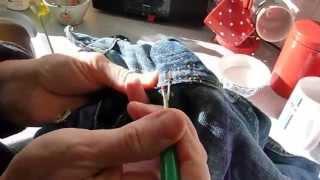 How to sew a new zip in jeans. Broken zip? Here's how to renew it!