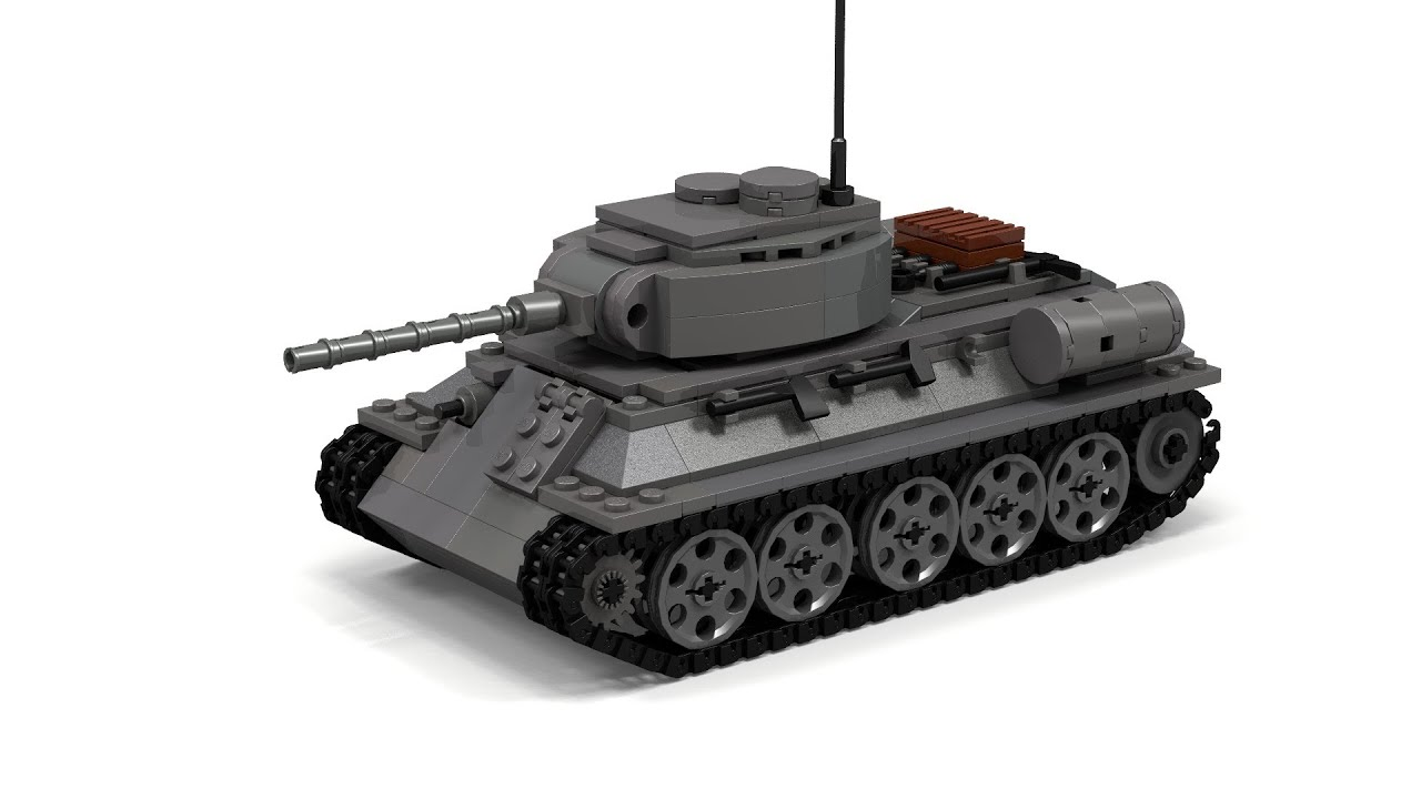 Lego Wwii T 34 Tank Instructions Youtube