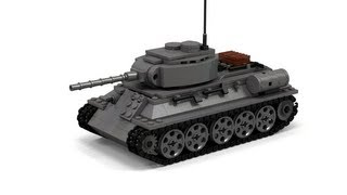 Lego WWII T-34 Tank Instructions