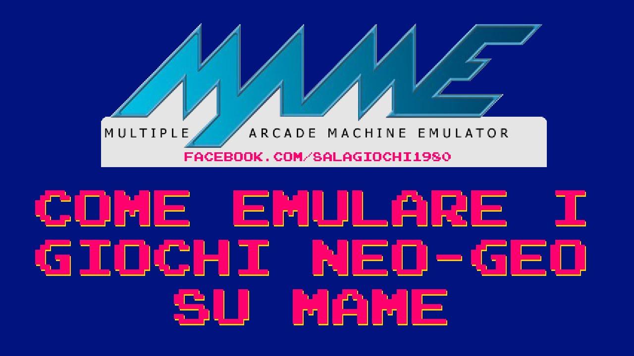 ... Tutorial - Come Emulare i giochi NEOGEO by Sala Giochi 1980 - YouTube