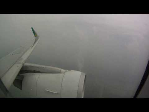 Heavy Turbulence after takeoff from Shanghai Pudong International Airport! (1080HD)