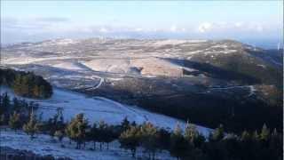 Sierra de Barbanza nevada desde el Monte Iroite (A Coruña) 13 de Marzo de 2013