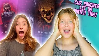 WE LET OUR KIDS WATCH THE SCARIEST MOVIE OF THE YEAR!!