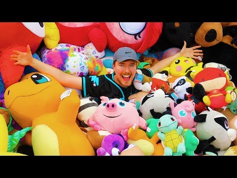I Won Every Prize At A Theme Park - MrBeast