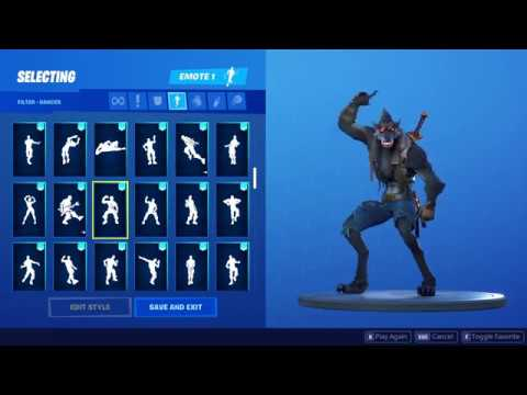 Fortnite - Dire Outfit (w/ Emotes)