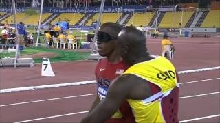 Men's 100m T11 | Semifinal 3 |  2015 IPC Athletics World Championships Doha