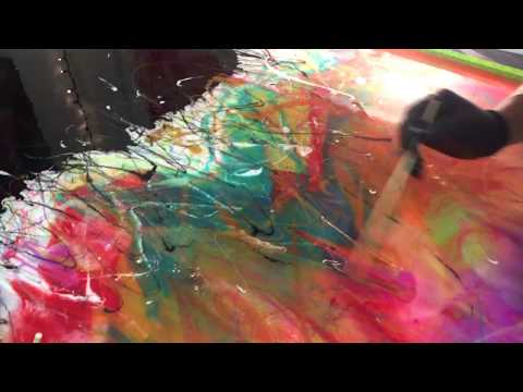 RESIN & ACRYLIC Abstract Painting // Chris Tuorto