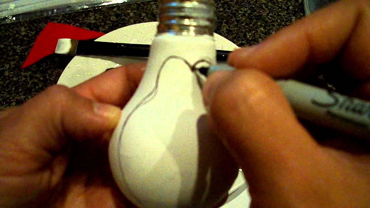 Christmas Light Bulb Ornament Craft