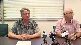 Dr. Mark Fridovich, Adult Mental Health Division, and William May, Hawaii State Hospital administrat