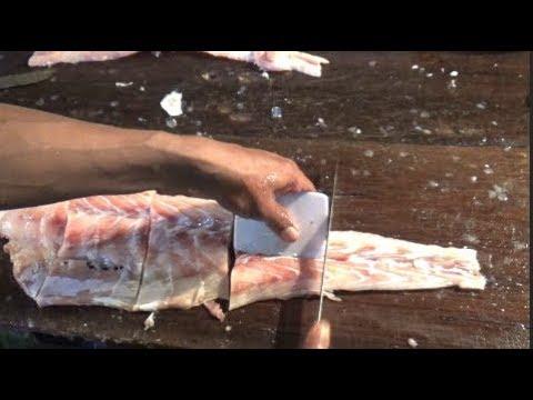 How To Cut Fish Fillet | Amazing Skill Of Fish Cutting | Gariahat Fish Market Kolkata WB India