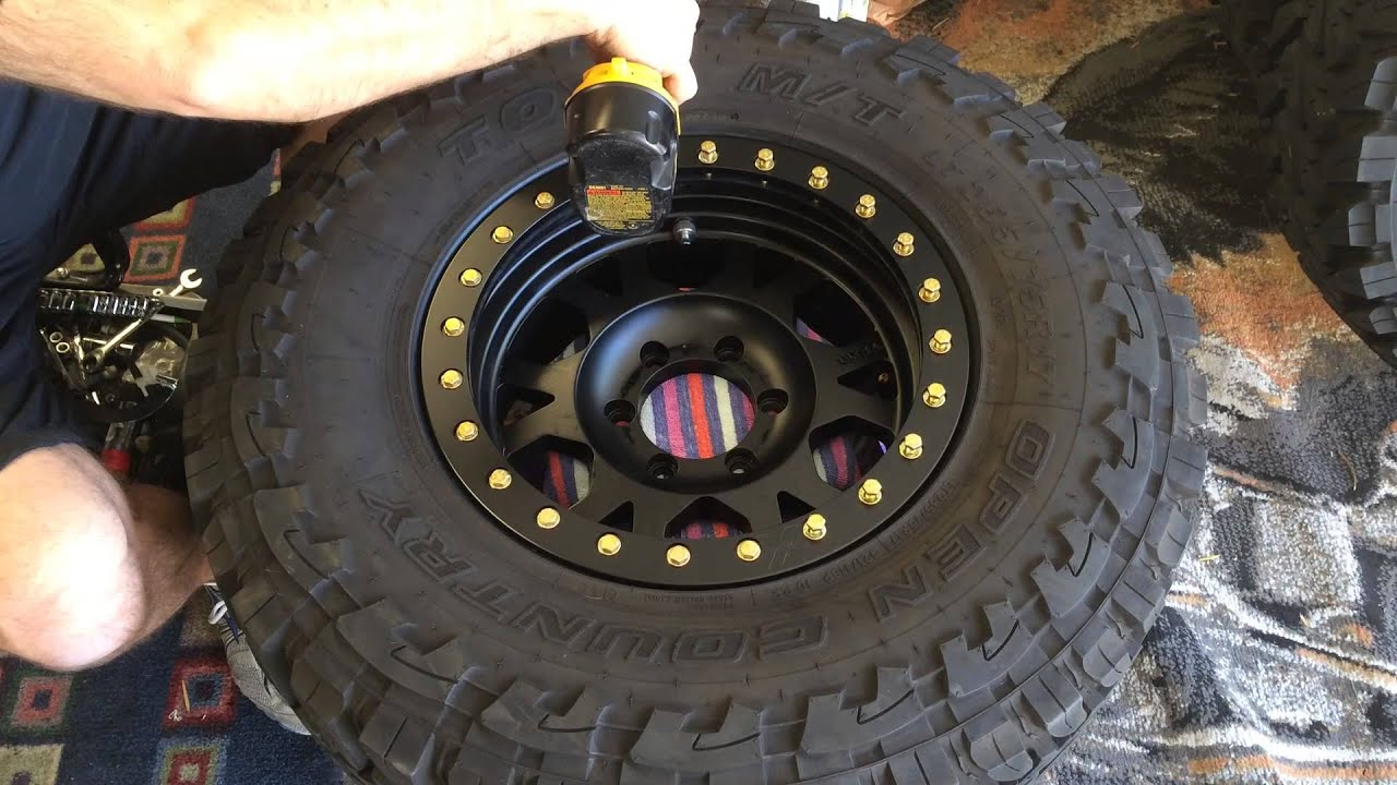 how to mount tires on your ultra beadlock rims