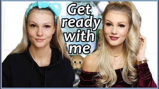 GET READY WITH ME for CHRISTMAS I MAKE-UP und HAARE