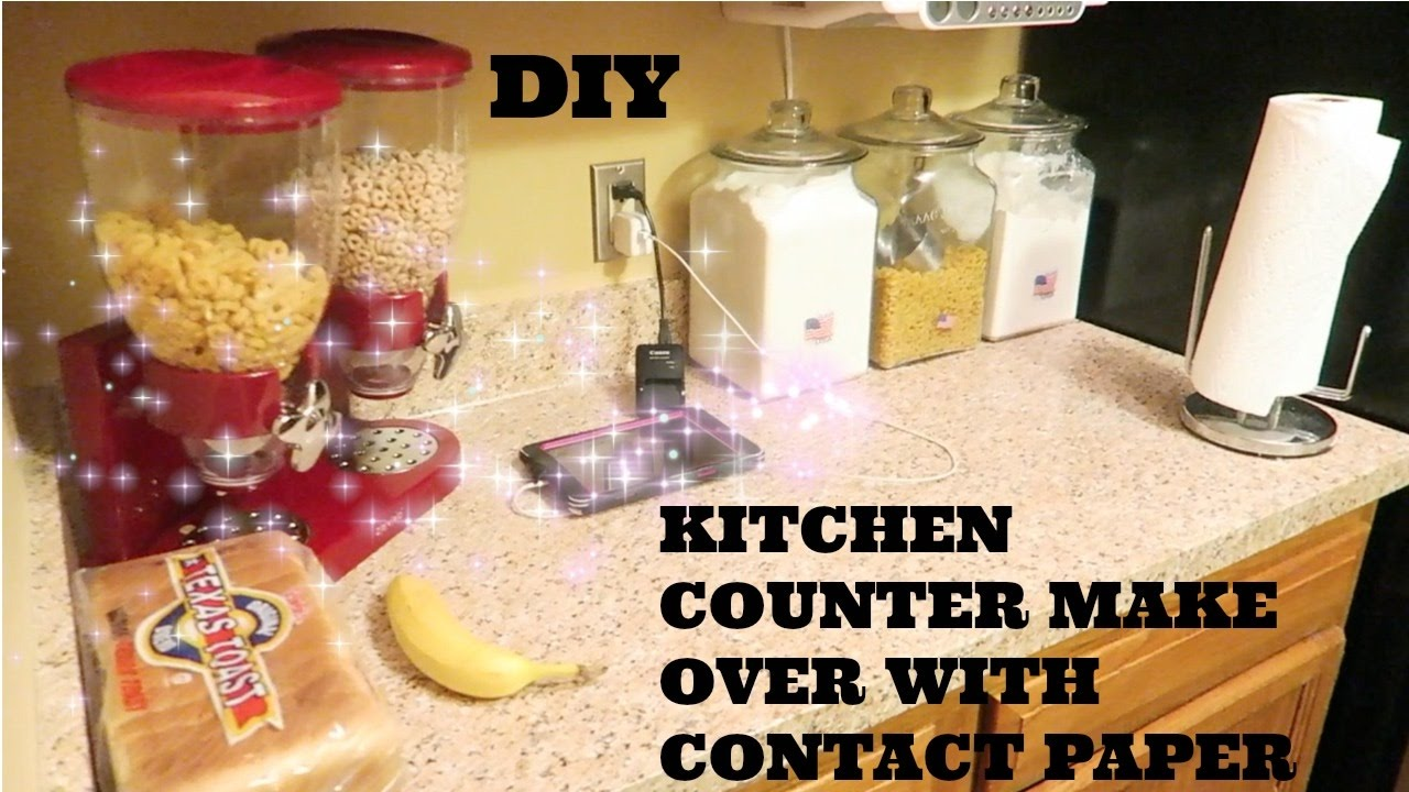 DIY Kitchen Countertop Make Over With Contact Paper YouTube - Contact paper for kitchen countertops