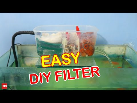 Build A Aquarium Filter At Home - DIY Aquarium Filter