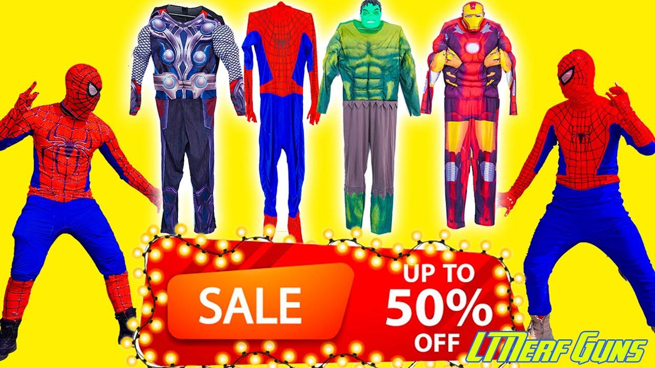 Patrol X Warriors Nerf Guns Fight Criminal Group Joker steals Superhero's clothes
