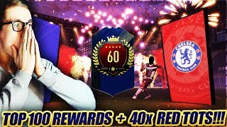 DICKE REWARDS TOP 100 + 40x RED TOTS MONTHLY PACKS! 😱😍🔥Fifa 18 Pack Opening 😱 Fut Champions