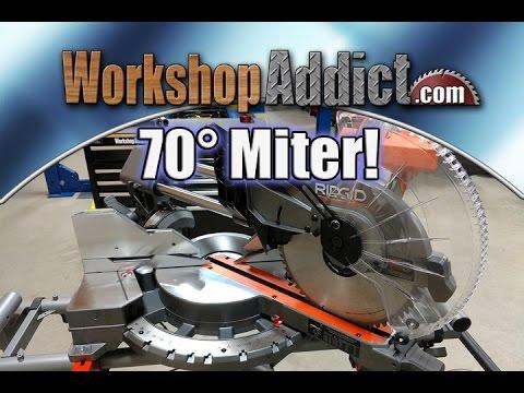 """Ridgid 12"""" Dual Bevel Sliding Miter Saw Review  - 70 Degree Miter Capacity"""