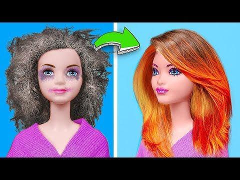 Барби против Принцесс Диснея / 13 ярких лайфхаков и поделок для кукол - Поиск видео на компьютер, мобильный, android, ios
