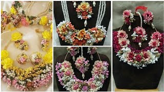 Best and beautiful sophisticated flower jewelry collection for Mayo and Mehndi
