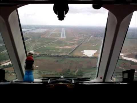 Landing  Cockpit View,  VOBL - Bangalore, 2013