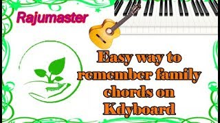Easy way to remember Family chords on Keyboard || Simple way to play family chords ||