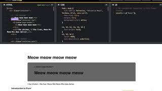 Tinker: HTML/CSS - Meow Mix