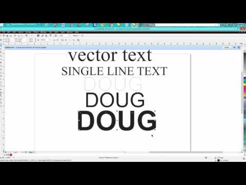 Corel Draw Tips & Tricks VECTOR line font or single line font - YouTube