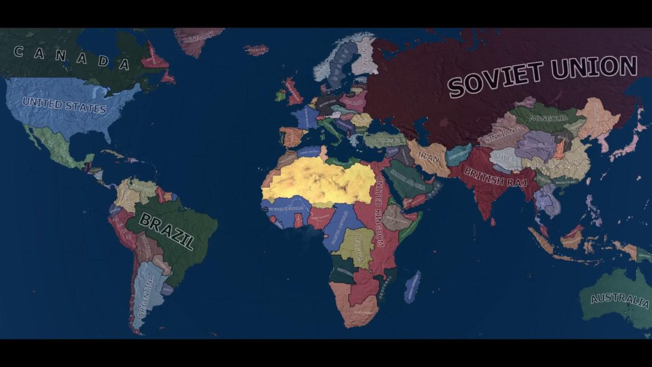 World War 2 Simulation Mod Timelapse Hearts Of Iron 4 Youtube