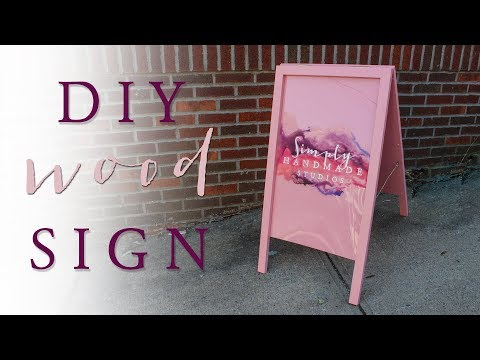 DIY A Frame Sign