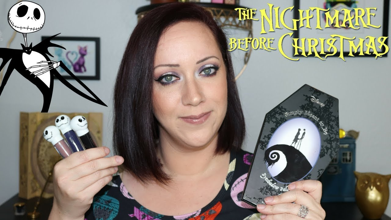 Nightmare Before Christmas Palette Lippies Hot Topic Youtube