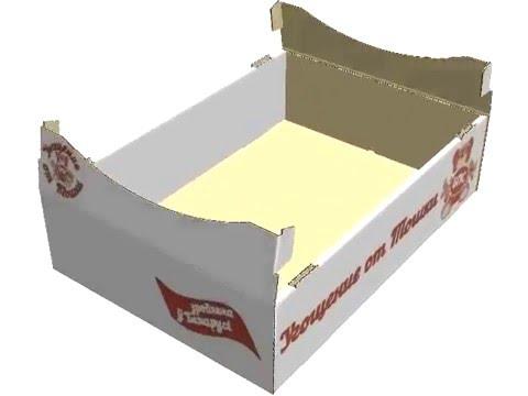 Кондитерский лоток сборка коробки