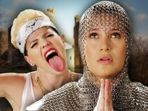 Miley Cyrus vs Joan of Arc.  Epic Rap Battles of History Season 3.