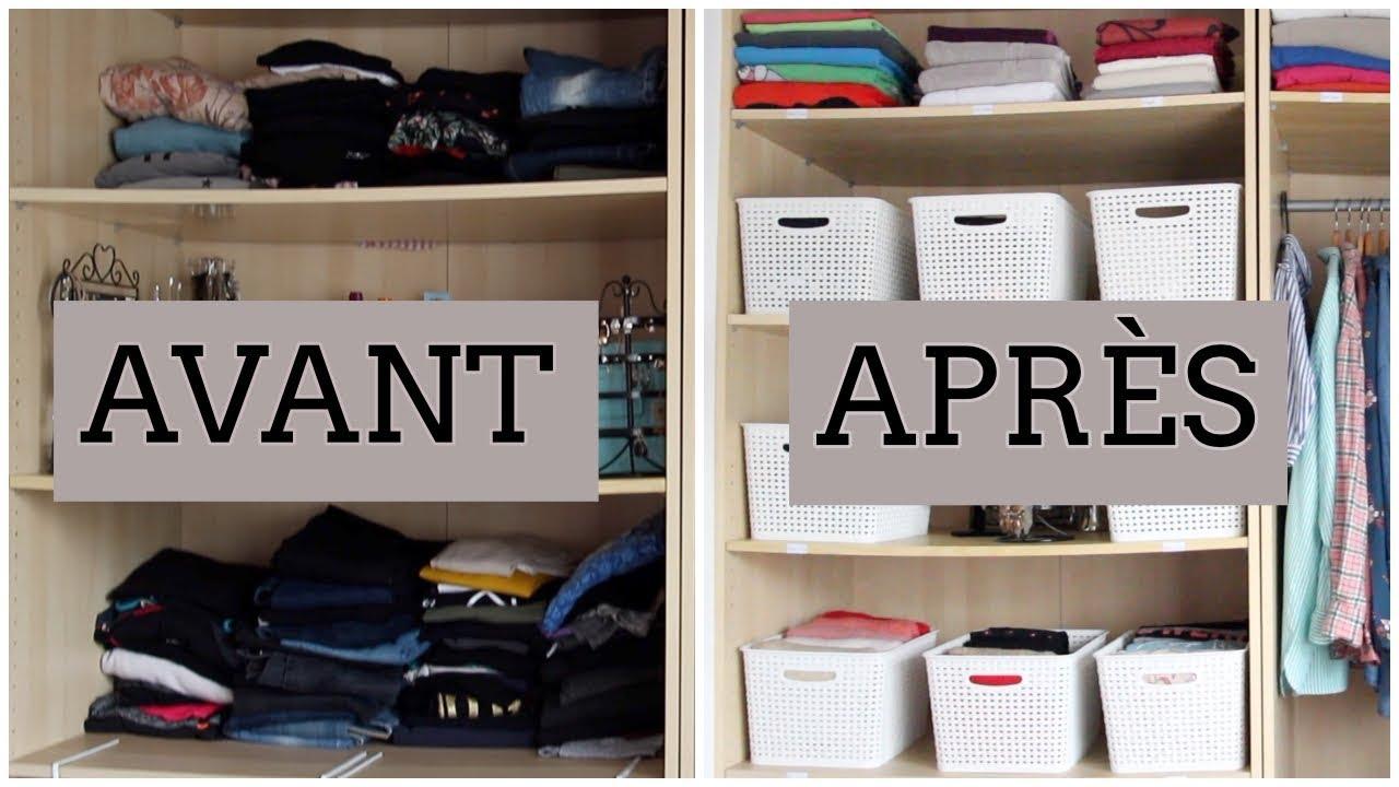 Je Réorganise mon Dressing / Armoire...⎢Astuces et Organisation