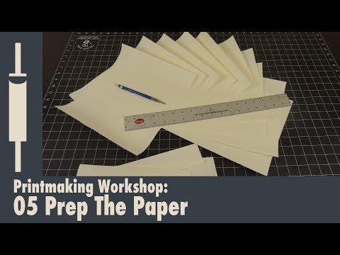 Linocut printmaking Tutorial 05: Preparing the Print Paper