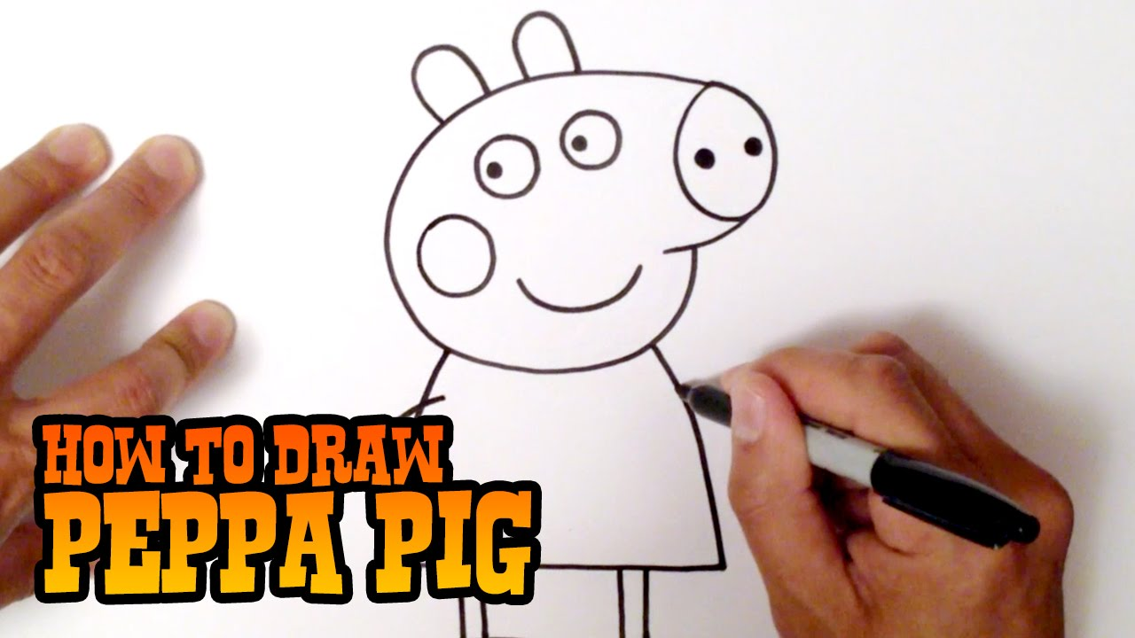 How To Draw Peppa Pig Step By Step Video Lesson