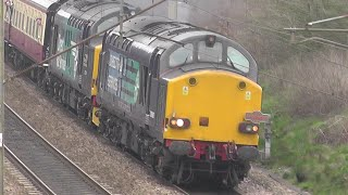 37607 & 37218 thrash up the WCML; The Easter Chieftain 03/06-04-2015