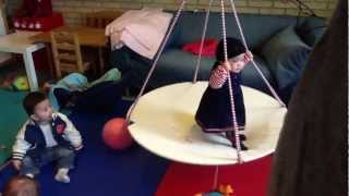 7-month Baby Plays With Indoor Swing.mov