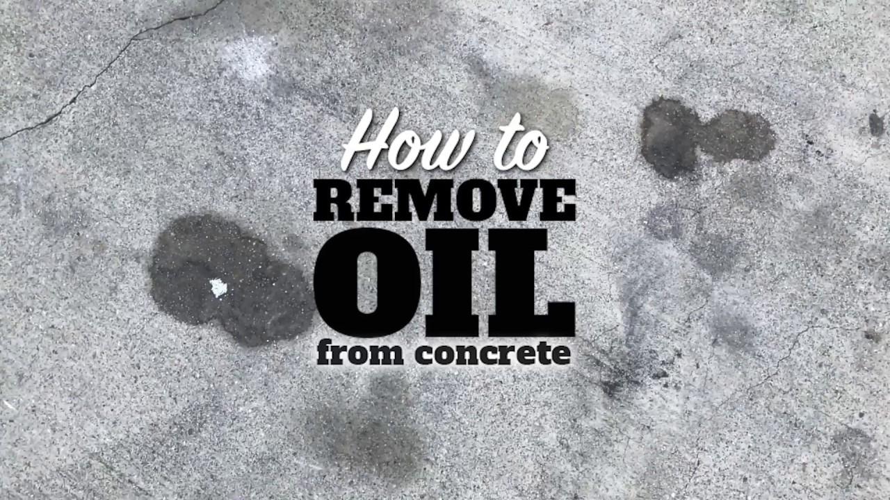 How to remove oil from concrete youtube for Clean oil from concrete