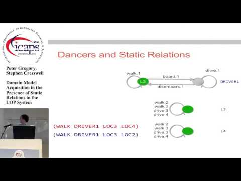 "ICAPS 2015: ""Domain Model Acquisition in the Presence of Static Relations in the LOP System"""