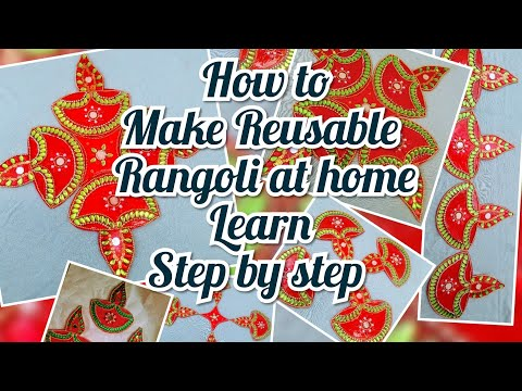 How to make Reusable & Rearrangable Rangoli at home / Learn step by step/Diwali decoration ideas/DIY