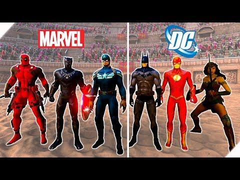 БИТВА СУПЕРГЕРОЕВ Marvel против DC - Игра Ultimate Epic Battle Simulator