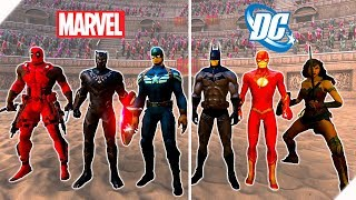 БИТВА СУПЕРГЕРОЕВ Marvel против DC - Игра Ultimate Epic Battle Simulator