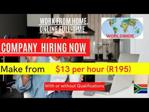 Work from Home Worldwide Jobs 2021| online opportunities in South Africa 2021( Hiring now)