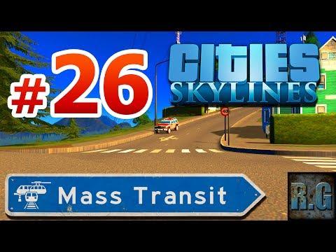 Cities Skylines MASS TRANSIT - Noruega #26 - Aeropuerto regional - Gameplay Español